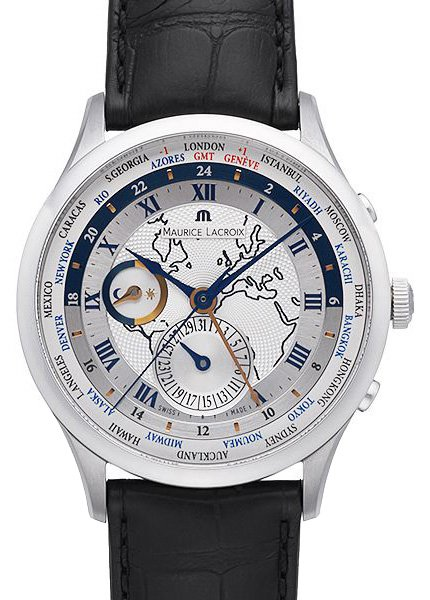 Maurice Lacroix Masterpiece Worldtimer Mp6008 Ss001 111