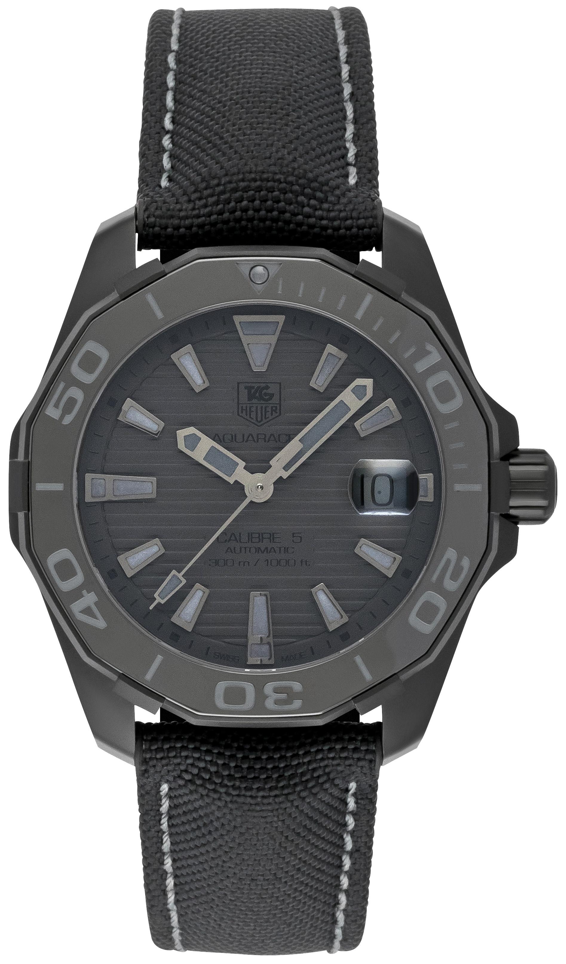 tag heuer aquaracer calibre 5 automatic 41mm black phantom way218b fc6364 uhrinstinkt seiko manual winding watch grand seiko manual winding
